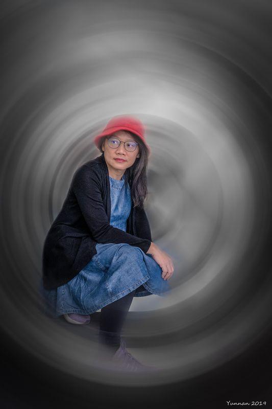 Portrait in spinner