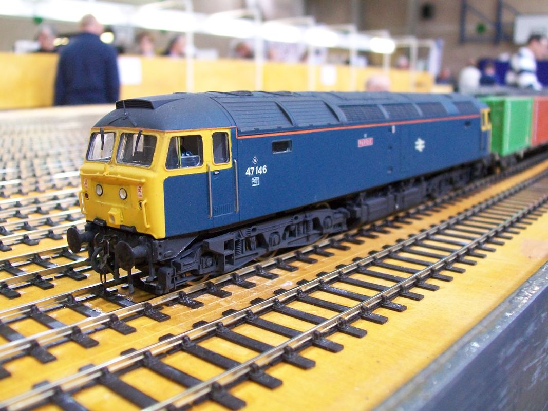 Class 47 locomotive in BR blue livery