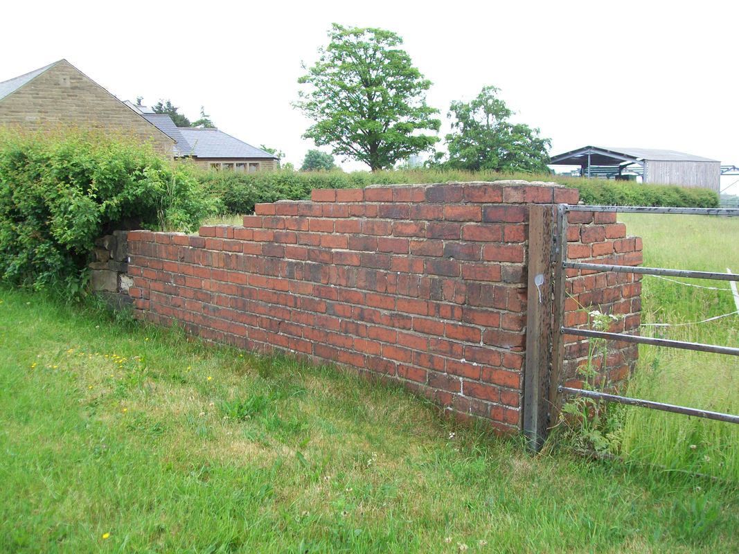 Parapet wall for a narrow gauge disused tramway tunnel near Brighouse