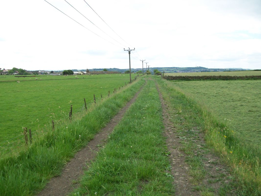 Kirklees way footpath, where it goes over the Low moor to Brighouse coal tramway
