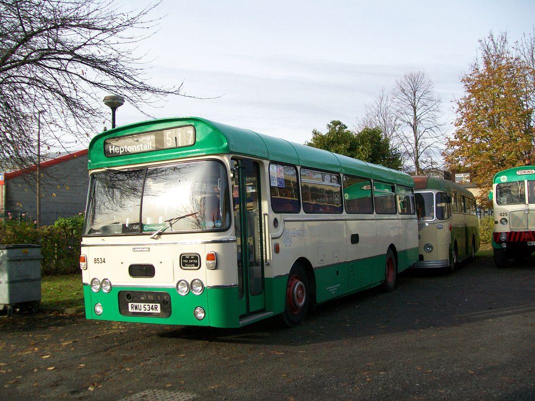 Leyland Leopard single deck bus, which has a Plaxton body