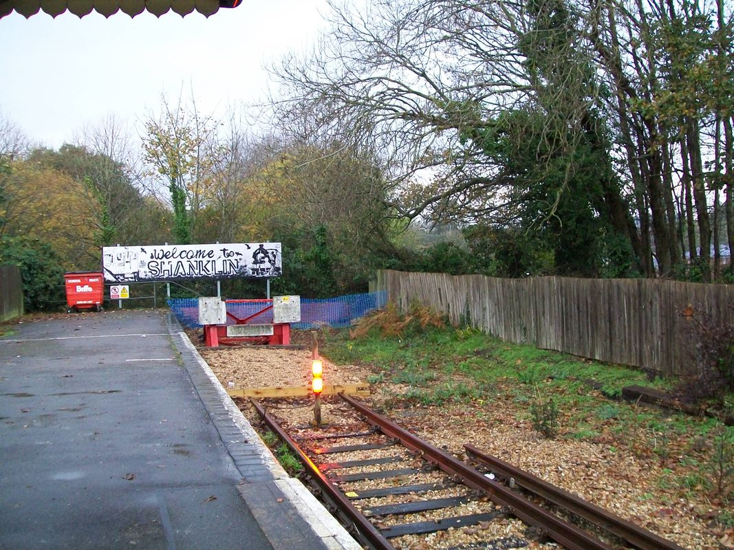 The end of the line at Shanklin, Isle of Wight, November 2017