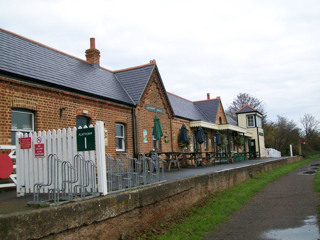Yarmouth station, on the Isle of Wight