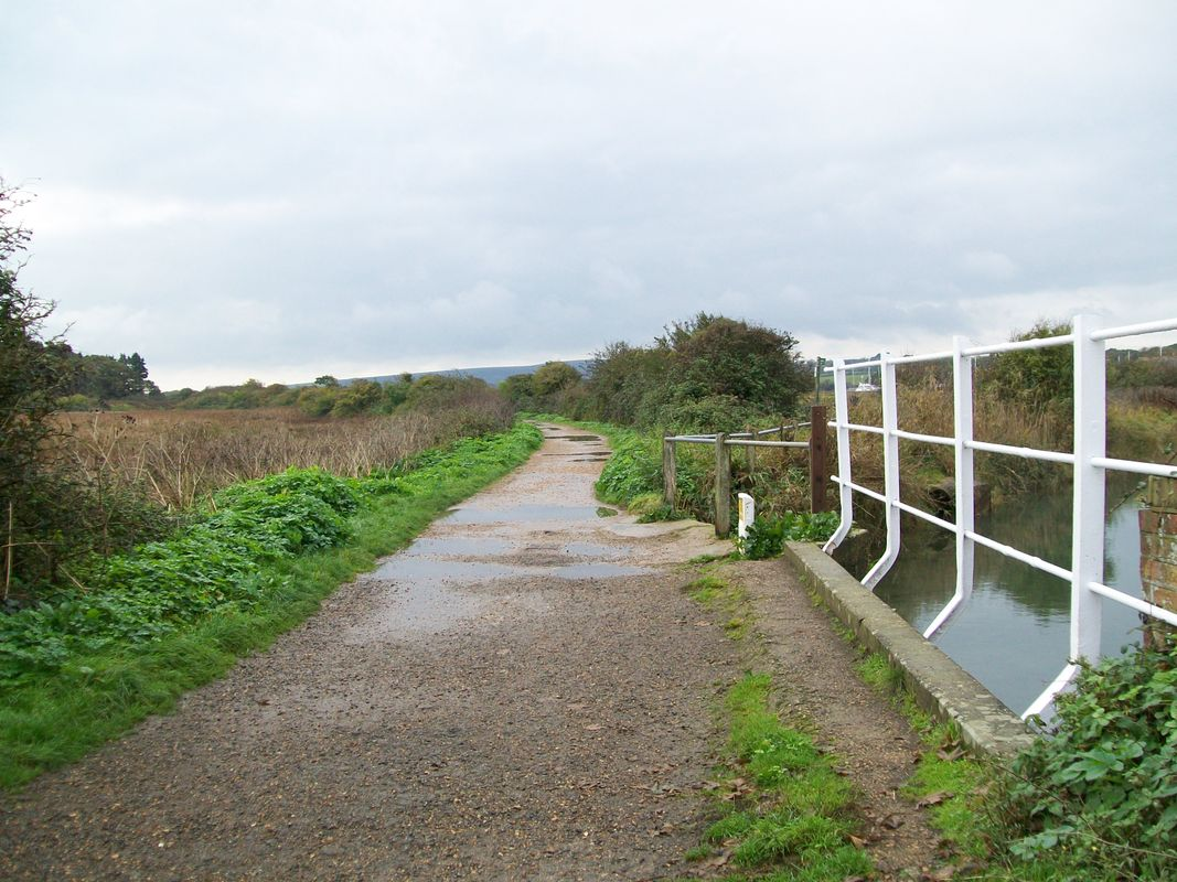 The abandoned railway, from Yarmouth, to Freshwater, on the Isle of Wight