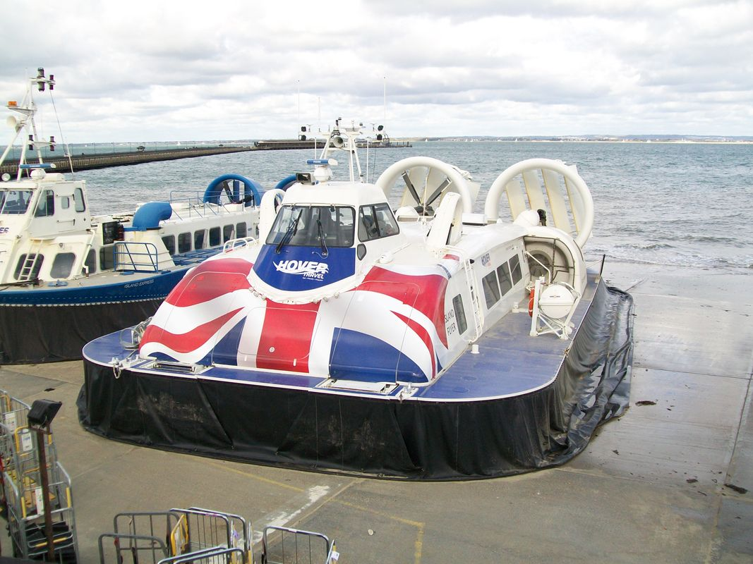 Hovercraft at Ryde, on the Isle of Wight, in November 2017