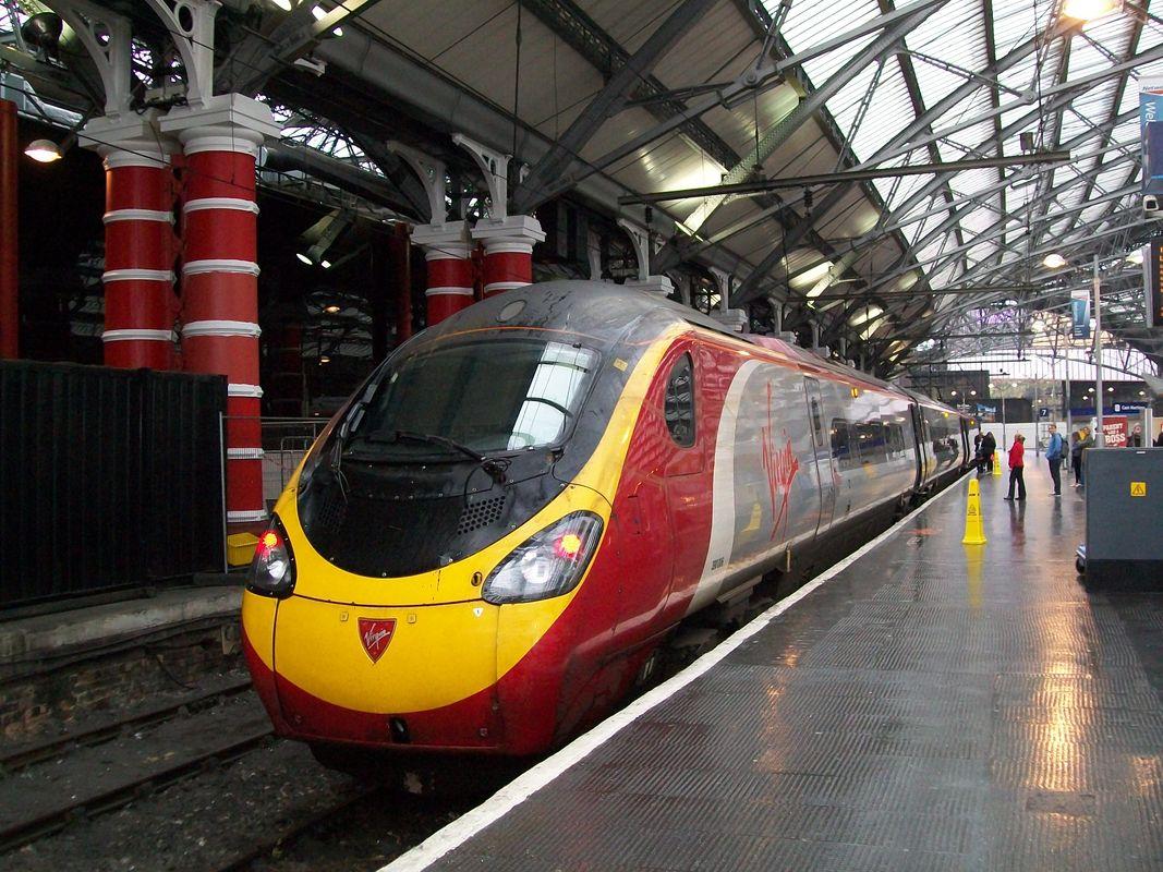 Pendolino tilting train at Liverpool Lime Street