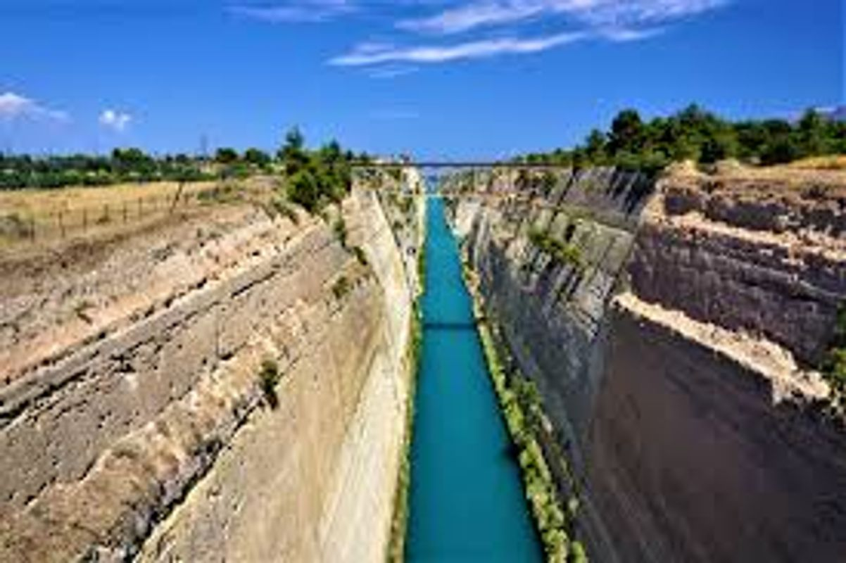 CORINTH CANAL BY JOY OF MUSEUM