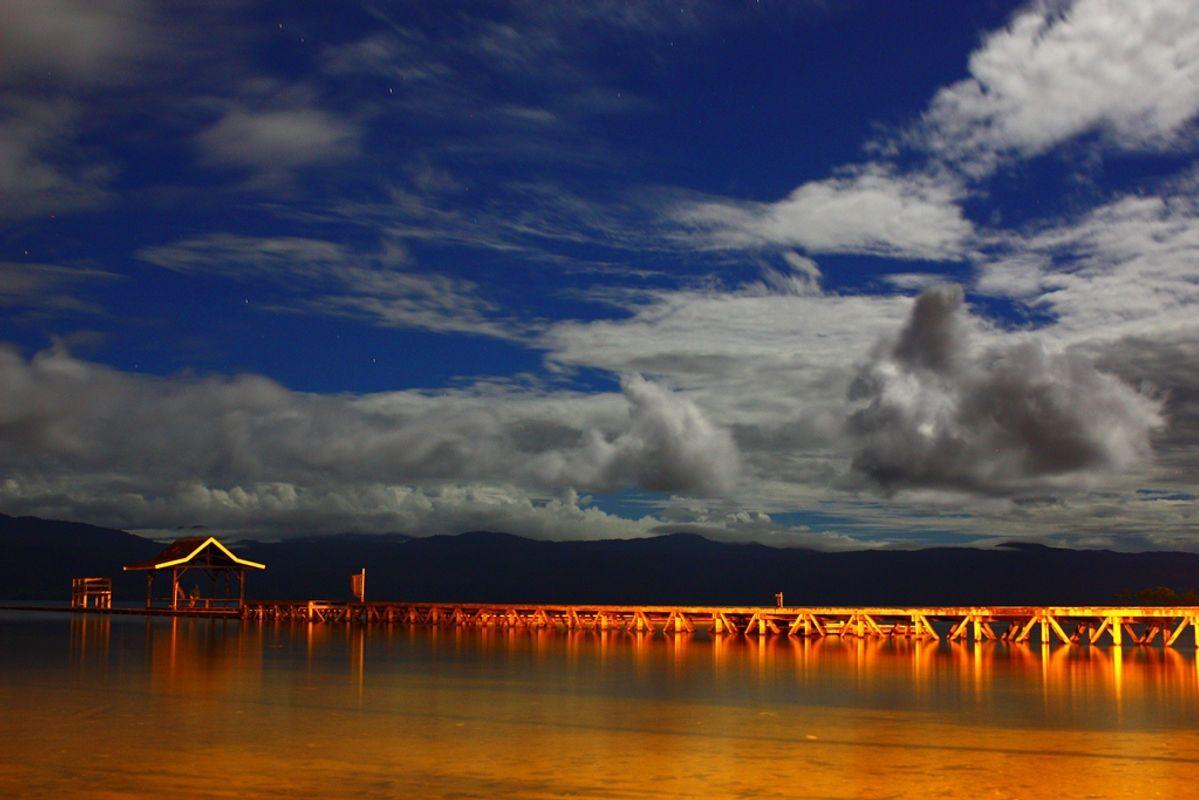 Blue Night at Ide Beach