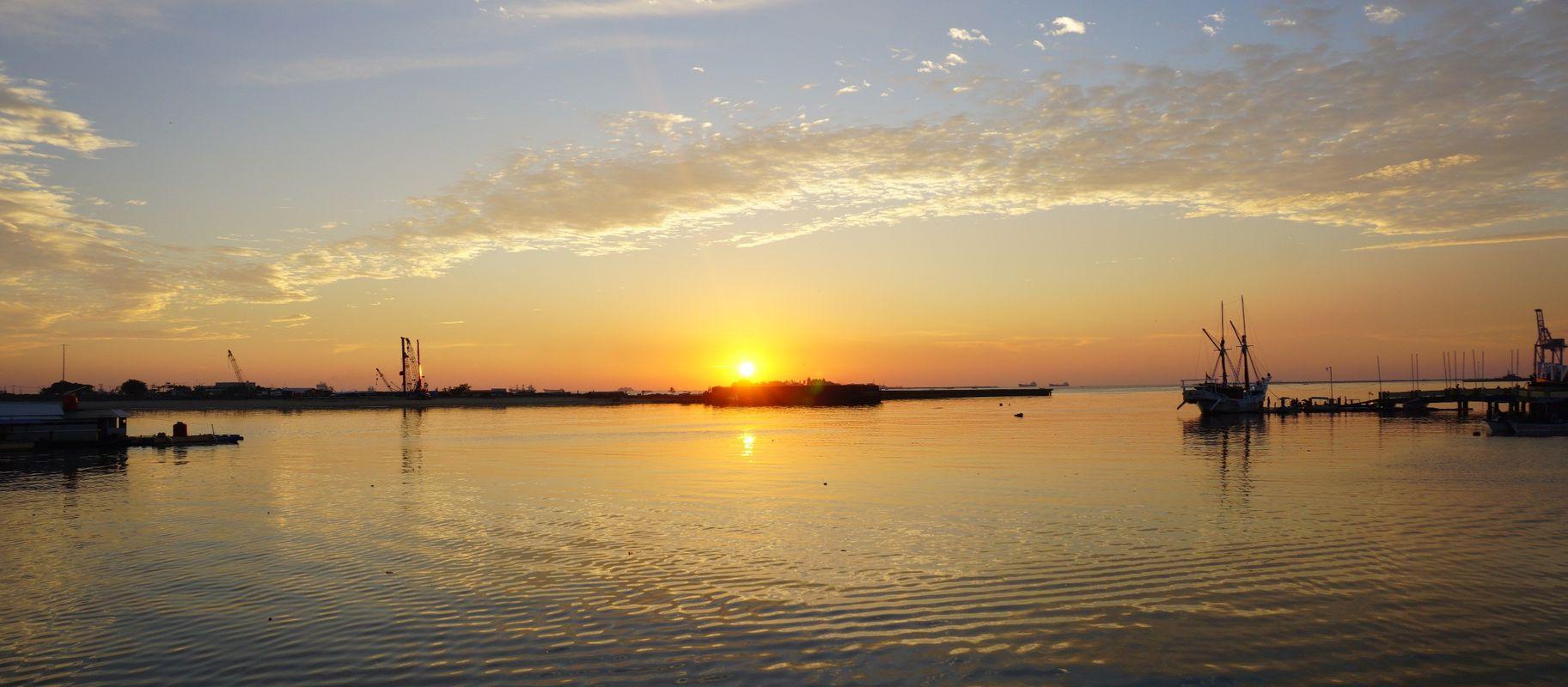 Sunset At Losari Beach Makasar