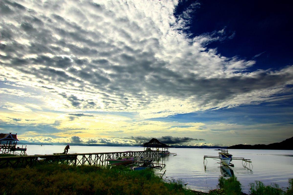 Cloudy Morning on Towuti Lake