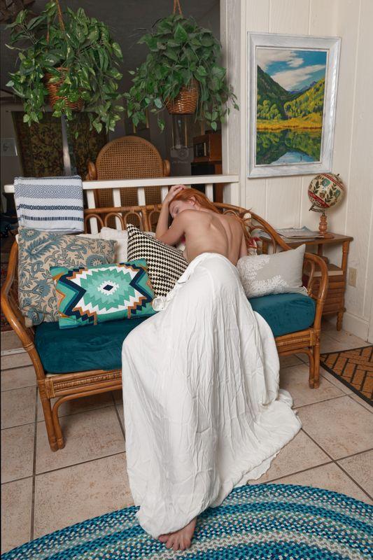 Astrid Kallsen, Implied in White Dress, Treasure Coast, FL, 2021-06-20
