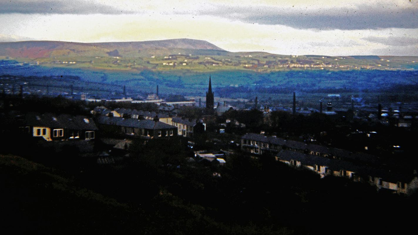 Vintage Picture - Overlooking Burnley, Lancashire 1974