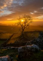 Sunset over the Yorkshire Dales