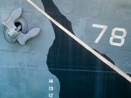 U.S. Navy Ship Closeup : anchor, rope, numbers