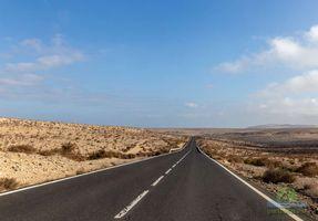 Desert street  in Fuerteventura