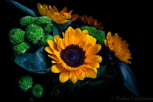 Sunflower with African Marigold