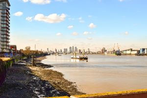 The River Thames from Woolwich.