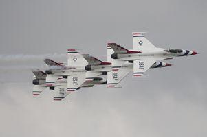 USAF Thunderbirds in formation.