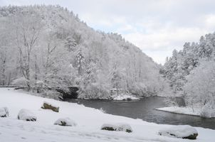 A White Christmas in Tennessee. Townsend Wye, a Winter Wonderland. Snow covered mountains