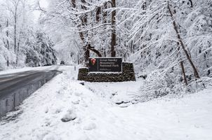 Great Smoky Mountains National Park, Townsend, TN. Snow Scene, White Christmas, Winter Wonderland