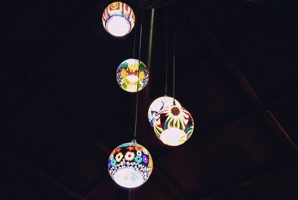 Lights at the cafe (colored)