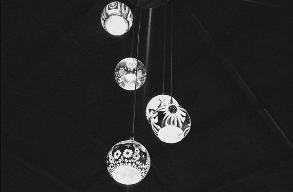 Lights at the cafe