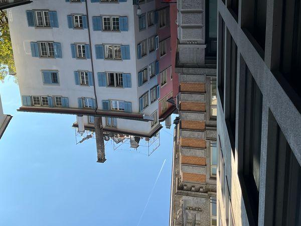 Street in historic city center in Zurich Switzerland.