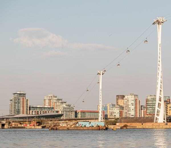 View of London and Cable Cars.