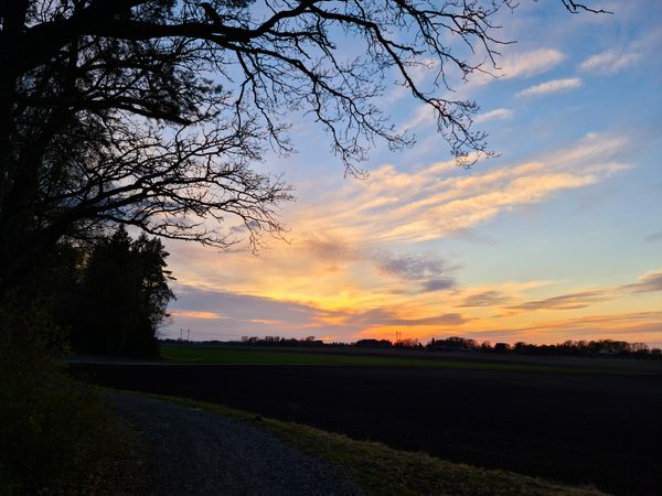 Sunset in the countryside.