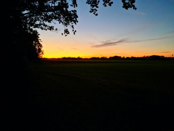 Nice sunset in the countryside this evening.