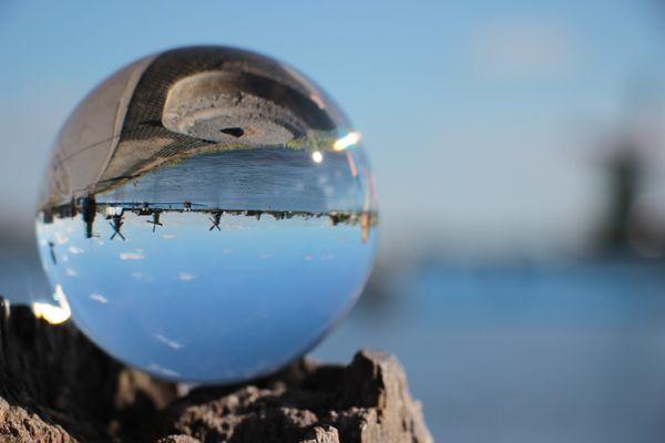 Crystal ball at Zaanse Schans