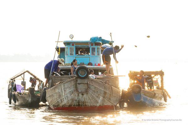 Floating Coconut Market