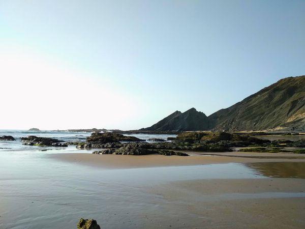 Ocean beach in Portugal