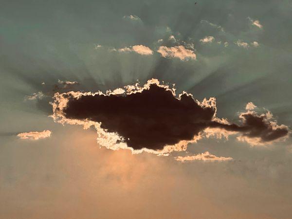 Sunshine through a cloud
