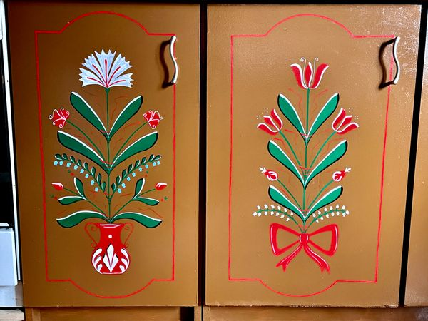 Old cabinet with Hungarian motives