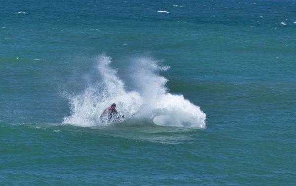 Splashing in Weymouth Bay