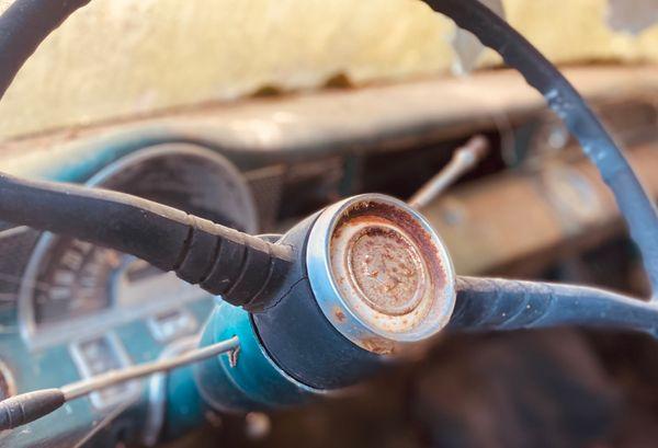 Old steering wheel
