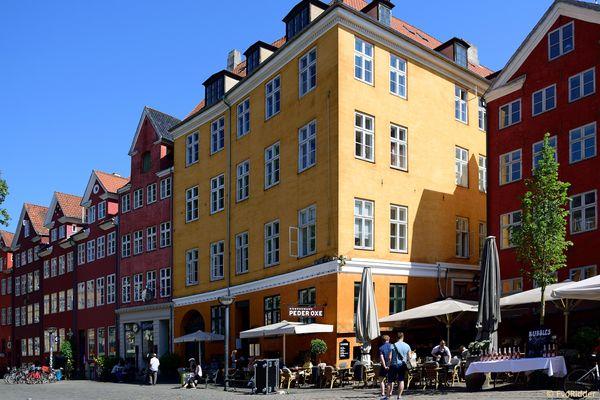 Colourful houses on Gråbrødretorv