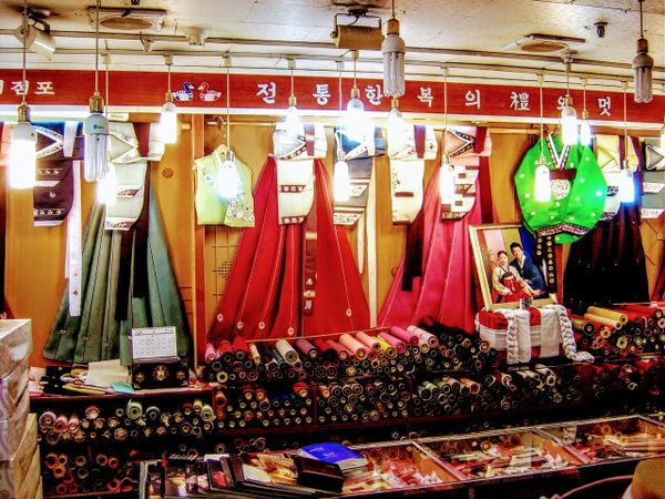 Traditional Korean dress of Hanbok from South Korea