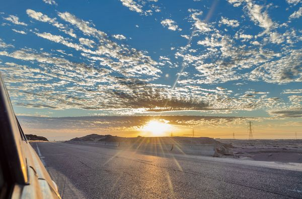 Beautiful Sky and Landscape In Egypt