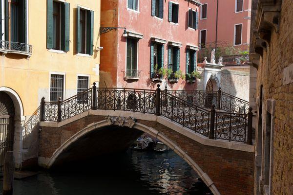 Small bridge and canal - Venice