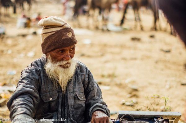 Old man vendor pushkar