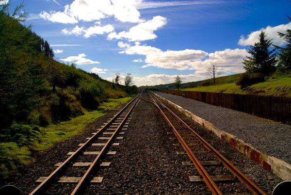 Brecon Mountain Railway, Torpantau Station. Brecon Beacons Wales.
