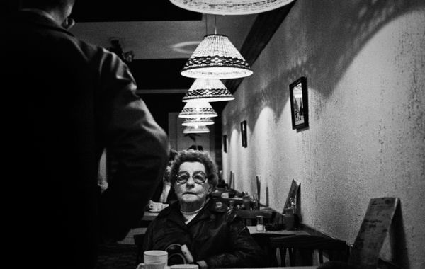 Lady in cafe_Glasgow, Scotland 1984