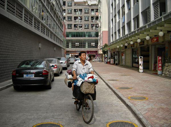 Man on Bicycle_Shenzen, China