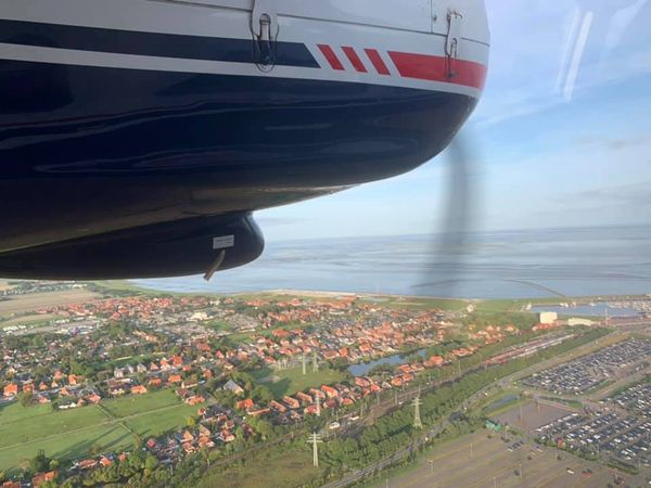 In the air over Borkum germany