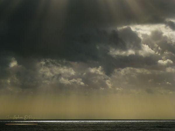 Late sun over the sea