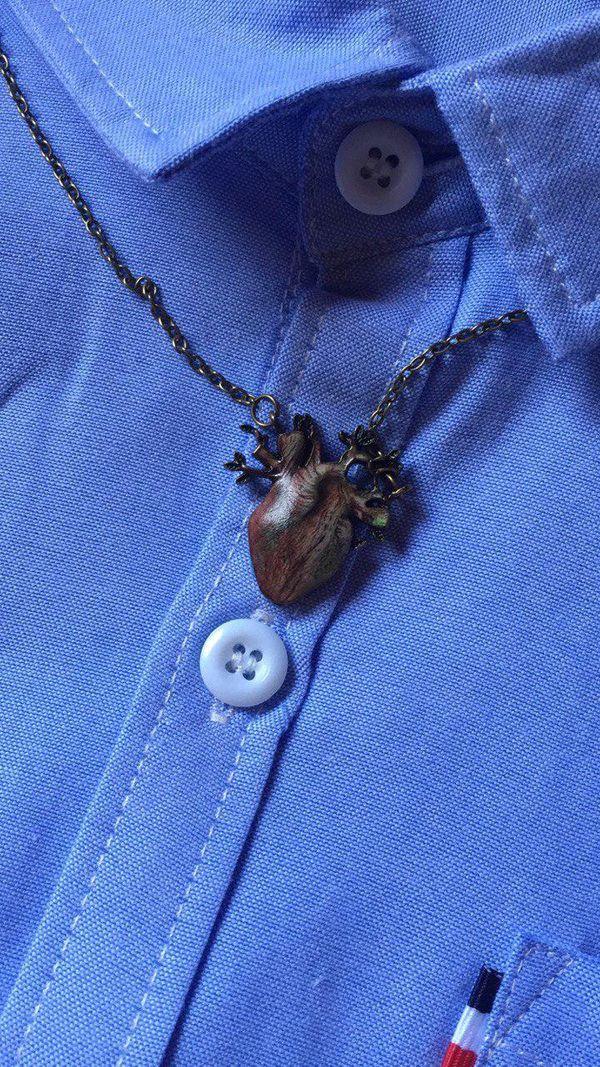 A heart shape necklace