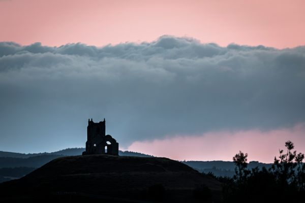 Ruined church on a hill-9527