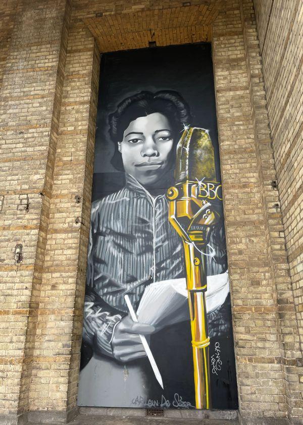 Alexandra Palace  Artists Walk 2021  Una Marson by Carleen De Souza wall mural